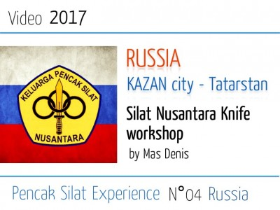 Russia 2017 Silat knife workshop by Mas Denis